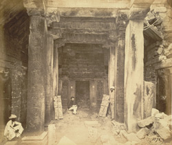 Interior of the Bhimanath Sun Temple, Babriawad, Kathiawar